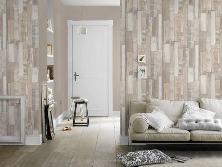 Papel pintado 446715 rasch factory 2 for Papel pintado imitacion madera blanca