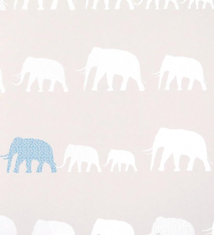 Papel pintado elefantes infantiles para niños Jungle Dyr 116212