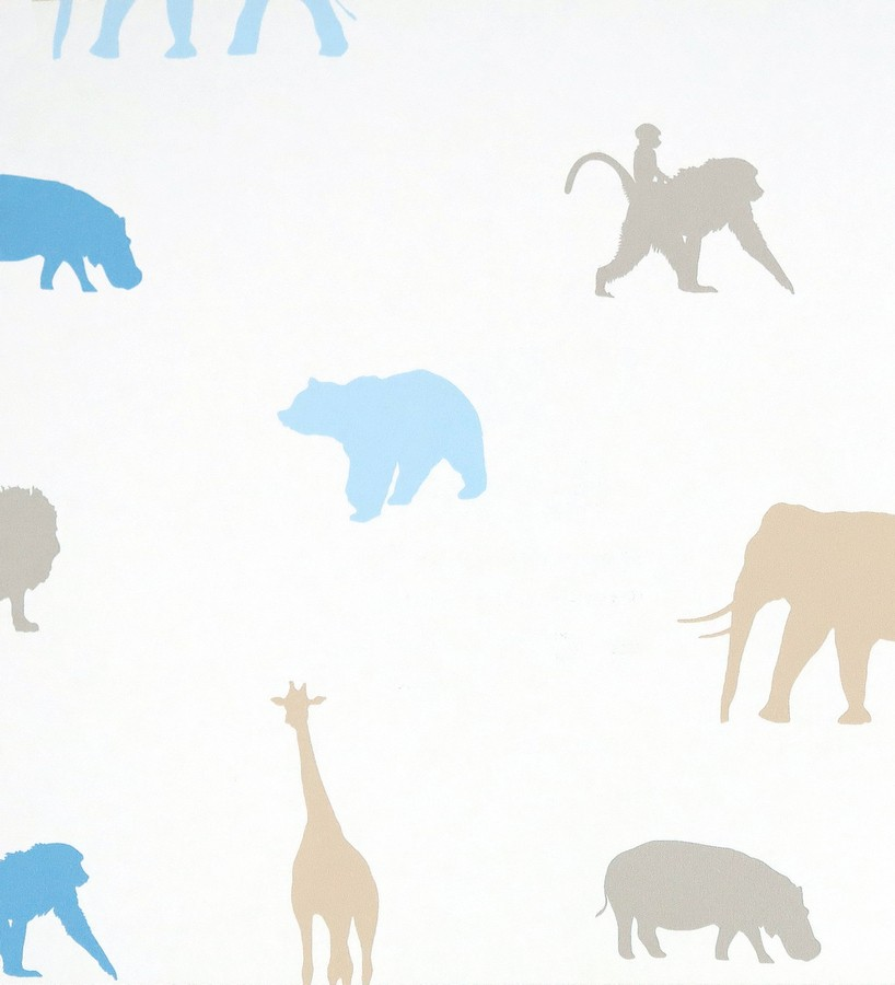 Papel pintado animales infantiles de la selva Jungle Dyr 116213