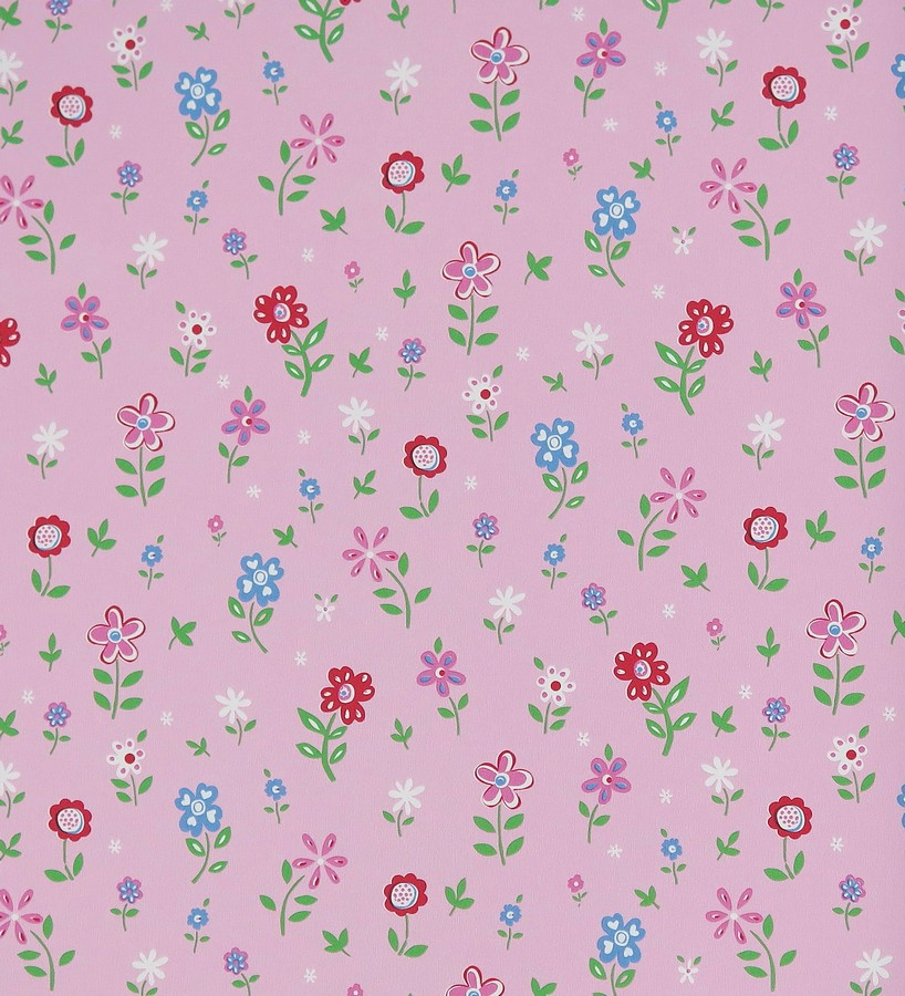 Papel Pintado Jardin De Flores Infantiles Menali 116228