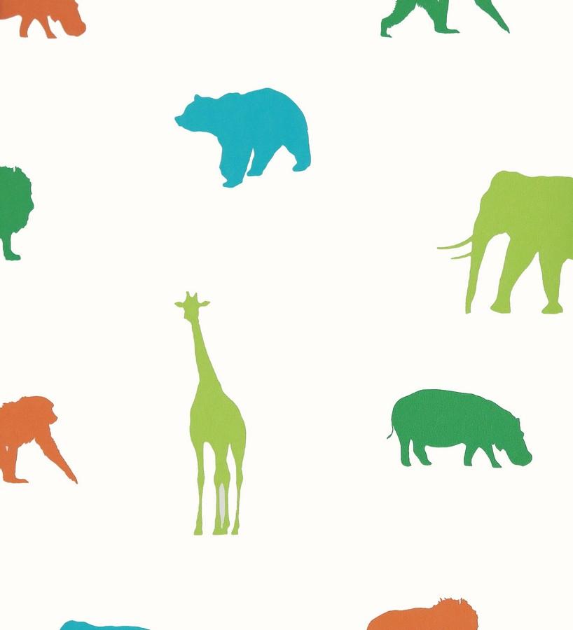 Papel pintado animales de la selva infantiles Jungle Dyr 116244