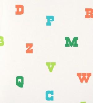 Papel pintado letras del abecedario infantiles Western Kids 116245