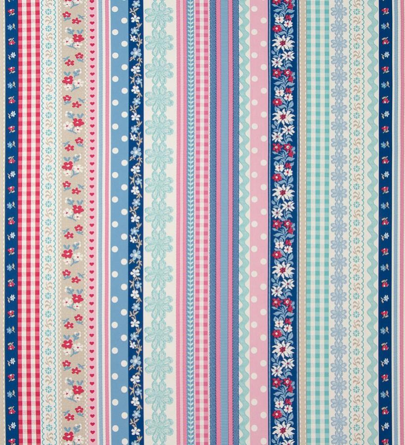 Papel pintado patchwork rayas vintage Addi 118376