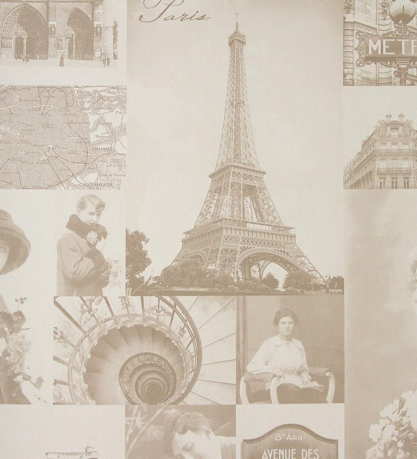 Papel pintado collage vintage de París París Vintage 3 118384