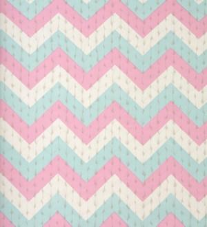 Papel pintado rayas en zigzag fondo de lana Mangala 118387