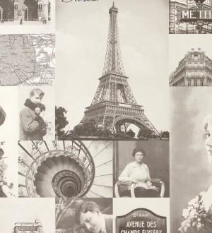 Papel pintado collage vintage de París París Vintage 3 118391