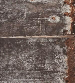 Papel pintado imitación chapa de metal oxidada Estrabón 118404