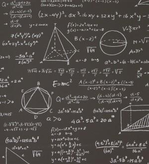 Papel pintado pizarra con problemas matemáticos Tabella 118405