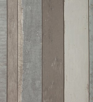 Papel pintado listones verticales de madera vintage Shabby Chic Bolonia 118406