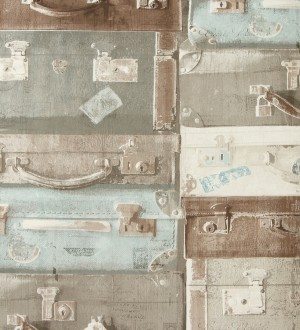 Papel pintado maletas de viaje Shabby Chic vintage Jacquelin 118409