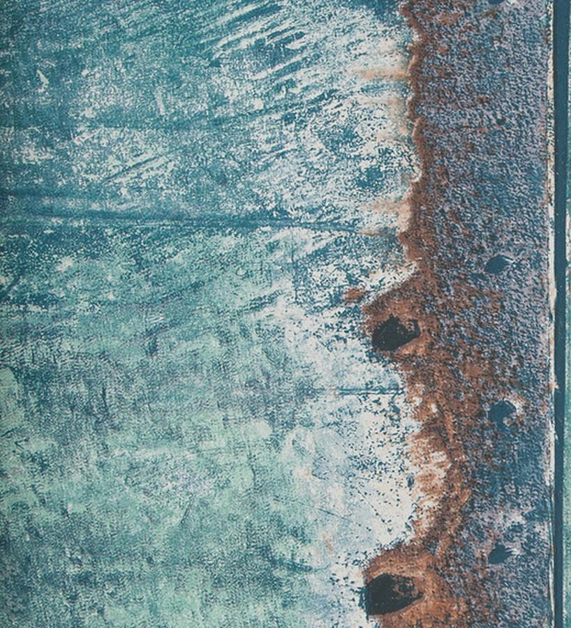 Papel pintado imitación chapa de metal oxidada Estrabón 118410