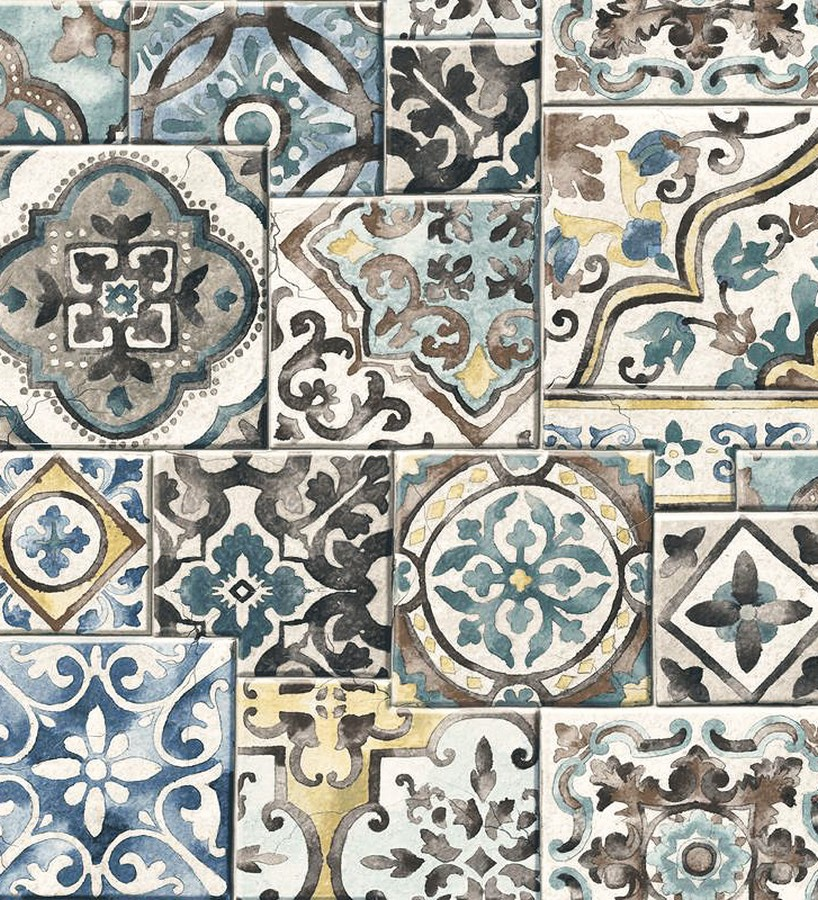 Papel pintado azulejos sevillanos Shabby Chic Provenza 119486