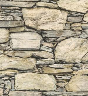 Papel pintado piedra estilo rústico fotográfico hiperrealista Basalto 119488