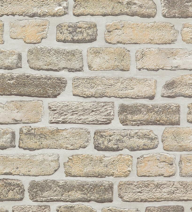 Papel pintado muro de ladrillo desgastado r stico chelsea 119497 - Papel pintado rustico ...