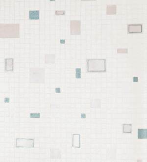 Papel pintado gresite pequeño para baños beige pálido Vezzola 119514
