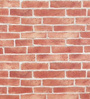 Papel pintado muro de ladrillos refractarios marrón terracota Texas 119528