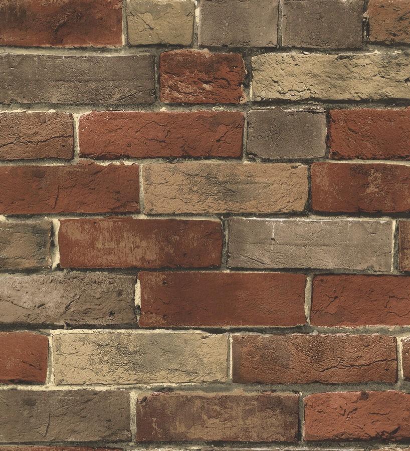 Papel pintado muro de ladrillos vistos urbano Jersey 119536