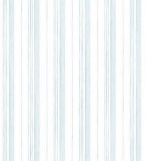 Papel pintado rayas y líneas de acuarela celeste claro pálido Raya Amyte 119597