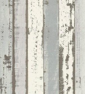 Papel pintado listones de maderas blancas decapadas estilo nórdico Bruixes 119694