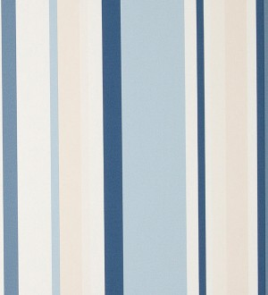 Papel pintado rayas efecto código de barras celeste grisáceo Raya Momet 119755