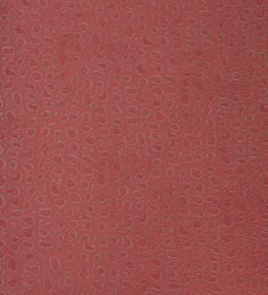 Papel pintado efecto piel de tortuga africana rojo teja Douala 119815
