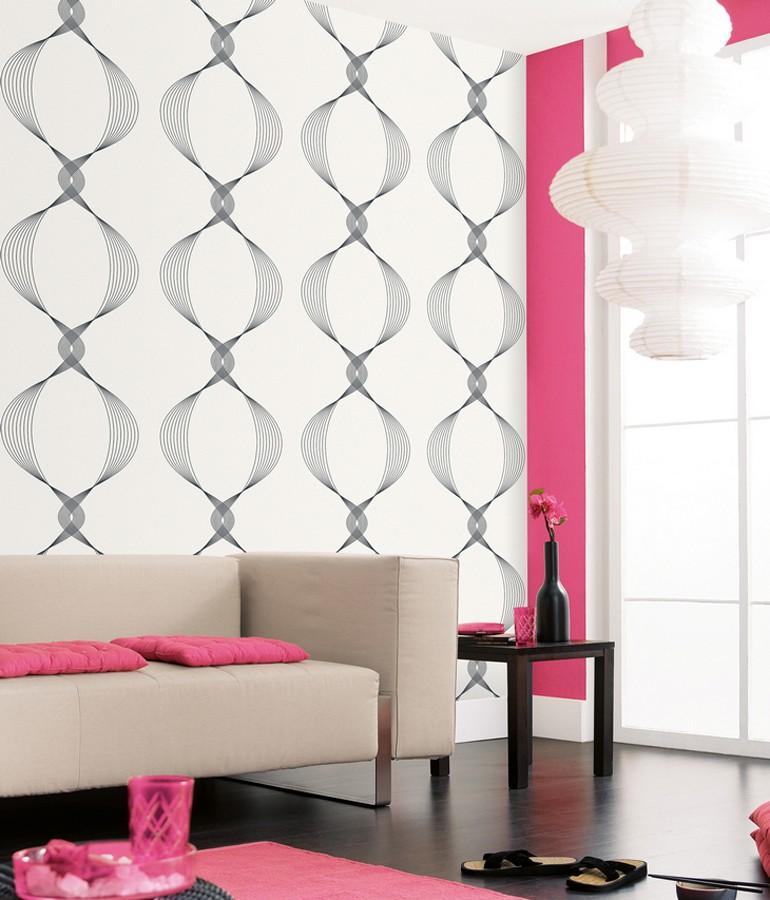 Papel pintado líneas diseño reloj de arena abstracto Bruque 339505