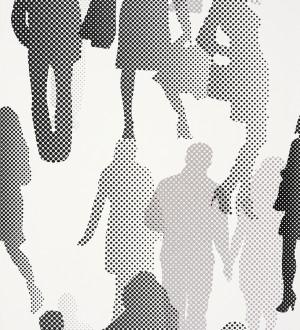 Papel pintado siluetas de personas puntillismo Zulma 339513