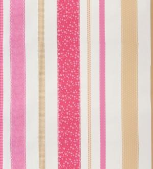 Papel pintado rayas estampadas patchwork Raya Flowering 340915