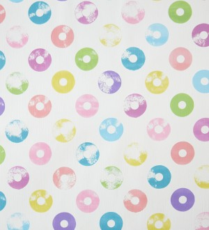 Papel pintado diseño Pop Up discos Shabby Chic multicolor Popdisk 341374