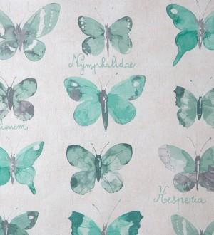 Papel pintado colección de mariposas vintage verde esmeralda Papilio 341954
