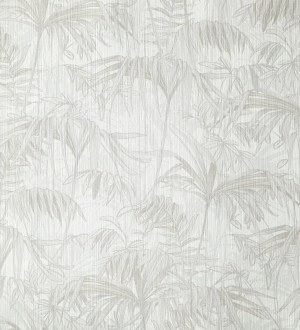 Papel pintado tropical plantas de hojas color blanco Hibiscus 342056