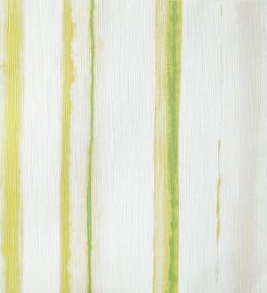 Papel pintado rayas difuminadas de acuarela verde intenso Raya Stenella 342067