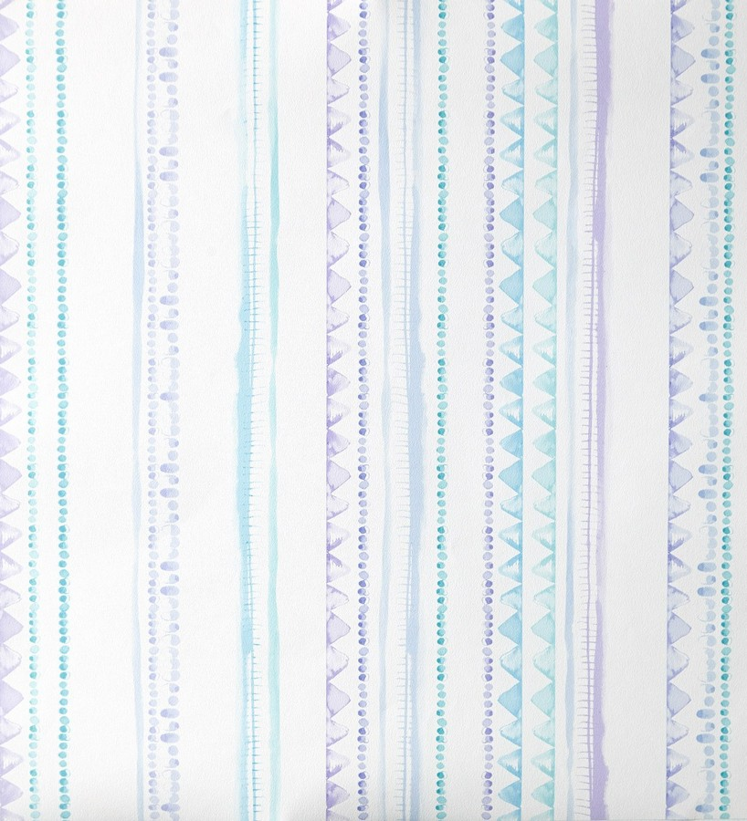 Papel pintado rayas infantiles de acuarela Raya Libelflies 342111