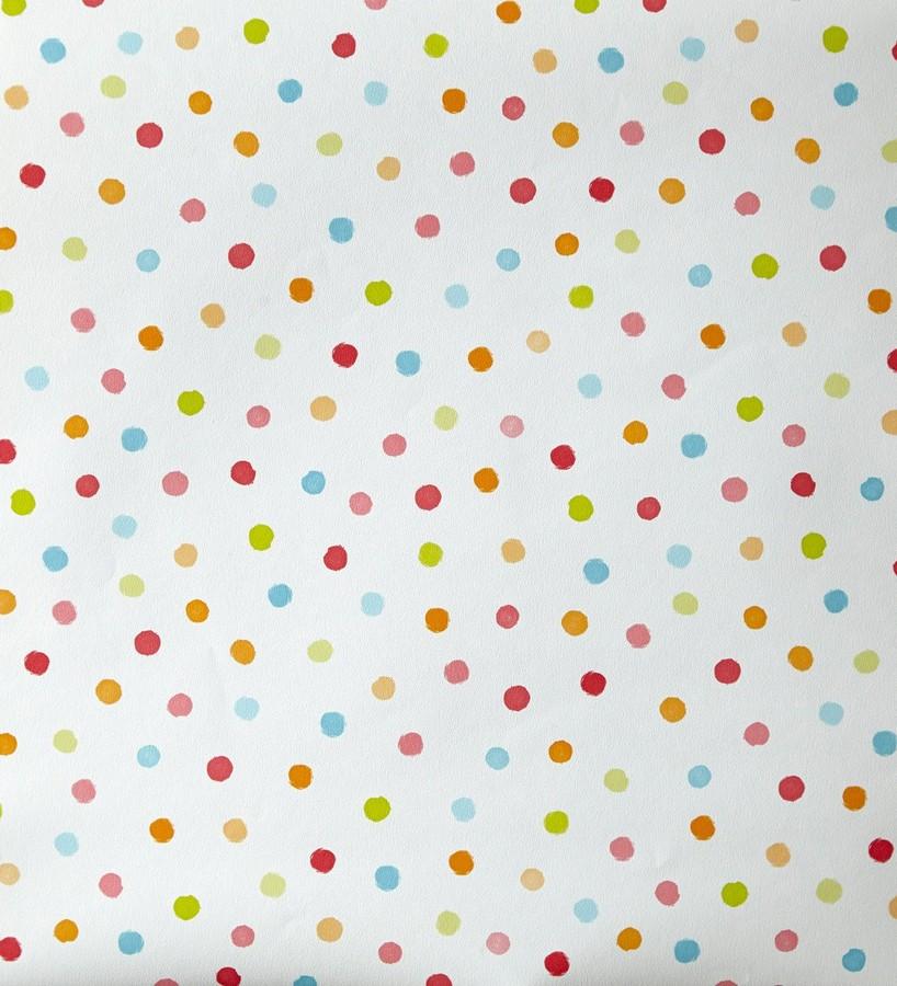 Papel pintado lunares infantiles multicolor girol 342119 - Gaulan papel pintado ...