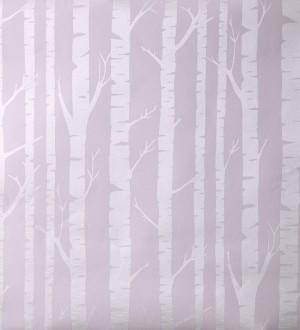 Papel pintado troncos de árboles estilo nórdico rosa claro Tree Forest 342122