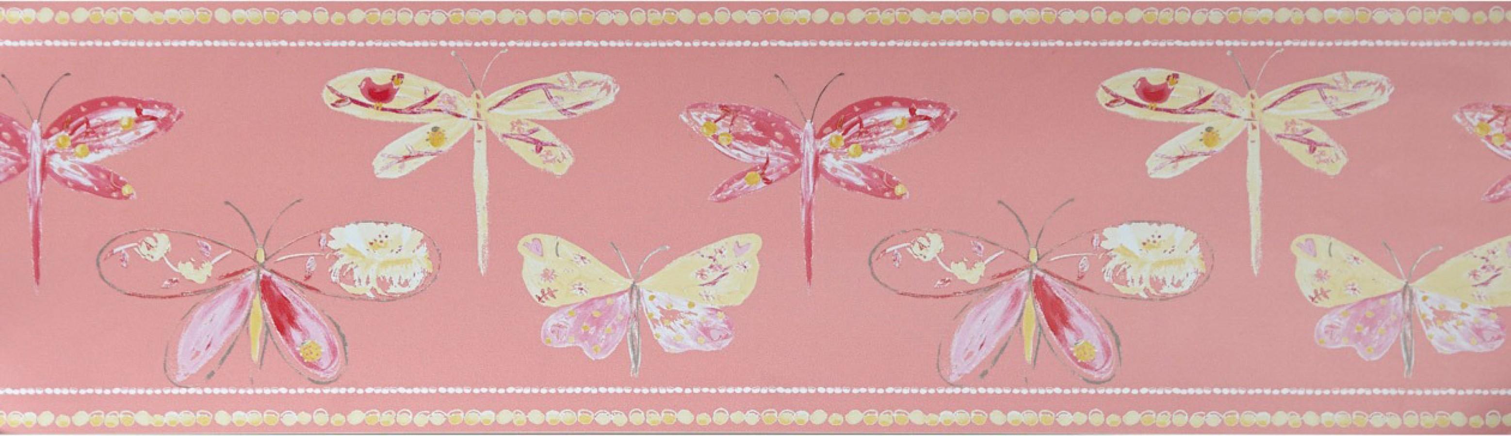 Cenefa mariposas y libélulas Small Libelflies 342132