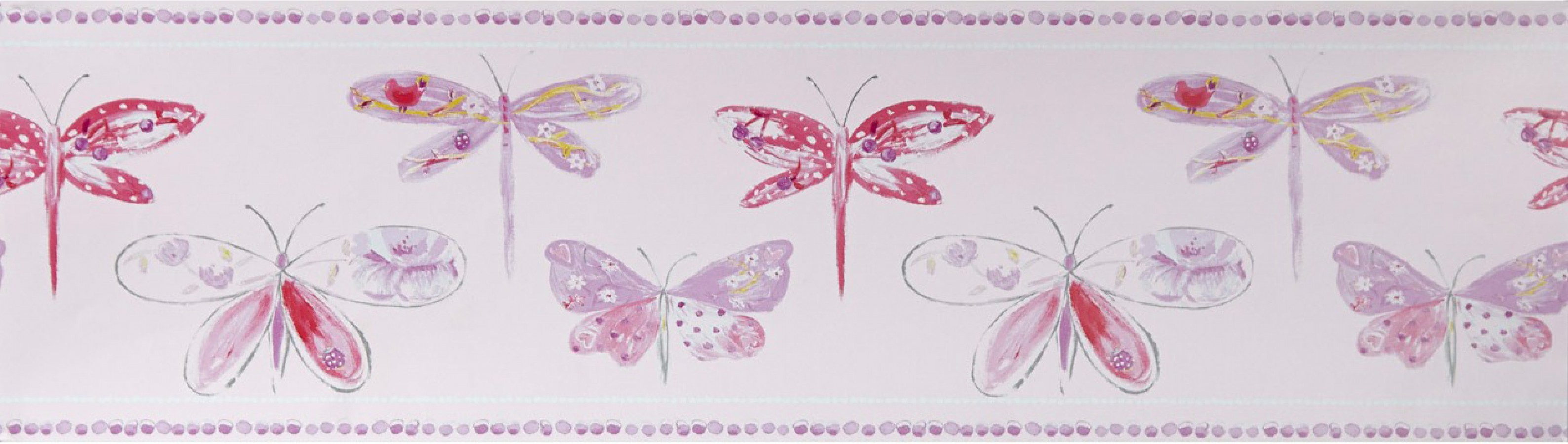 Cenefa mariposas y libélulas Small Libelflies 342134