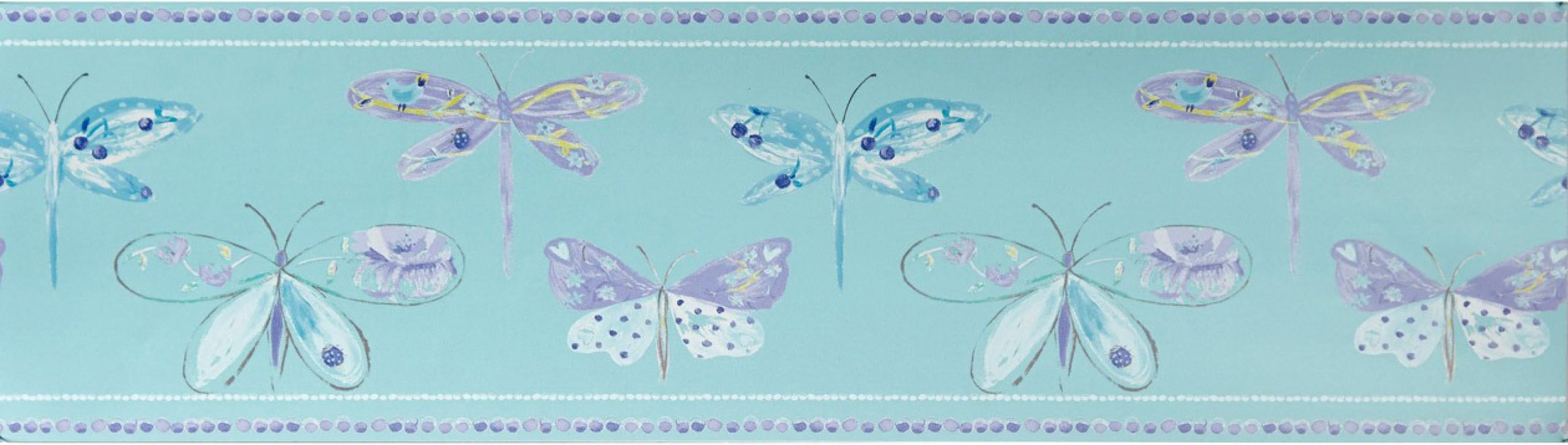 Cenefa mariposas y libélulas Small Libelflies 342135