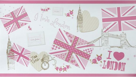 Cenefa collage con iconos de Londres London Letters 342136