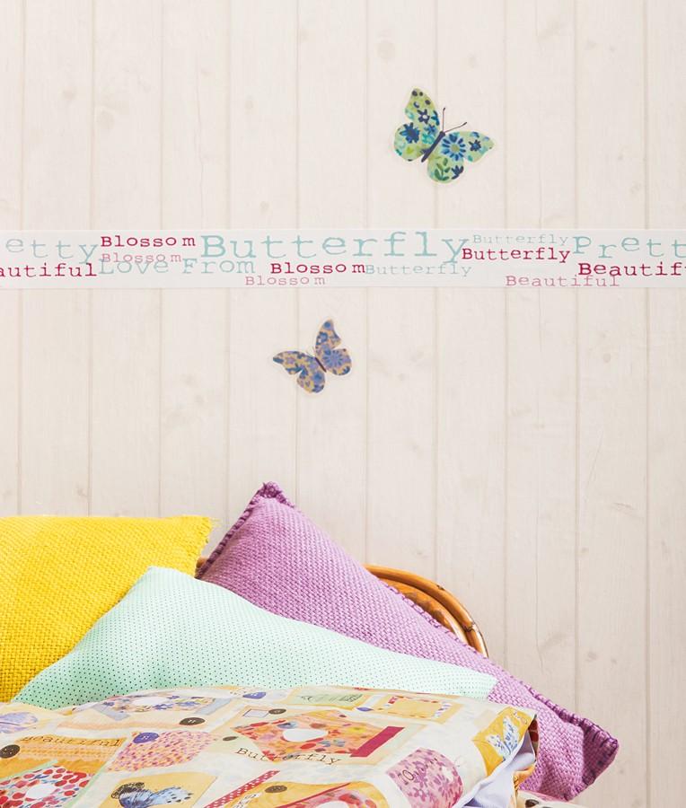 Cenefa palabras juveniles Romantic Birdcages 342142