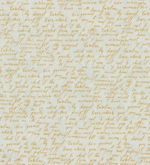 Papel pintado escritos de diario vintage naranja melocotón Caroline 342481
