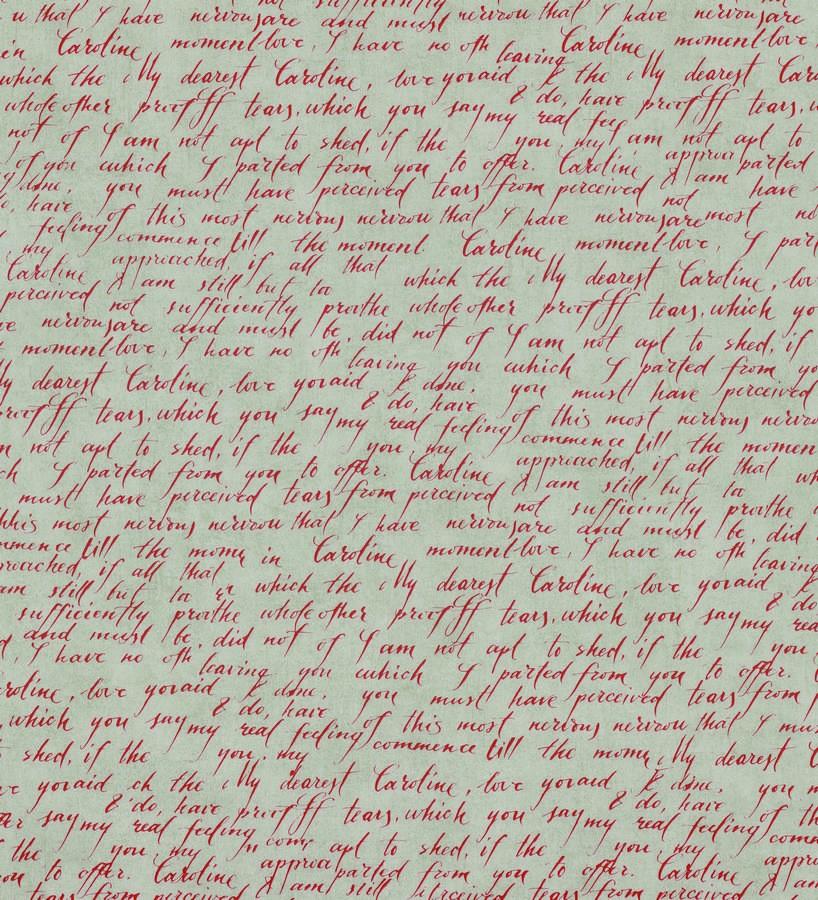Papel pintado escritos de diario vintage rojo oscuro Caroline 342482