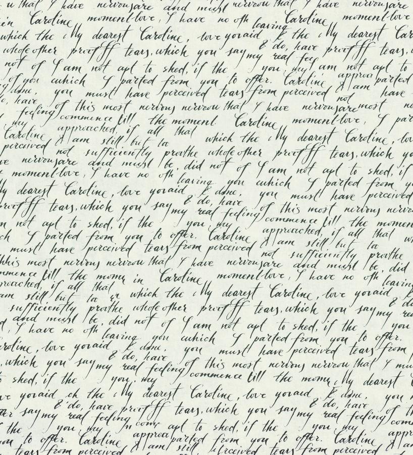 Papel pintado escritos de diario vintage gris oscuro Caroline 342484