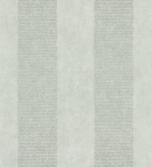 Papel pintado rayas de letras modernas gris musgo metalizado y gris claro Raya Lucida 342486