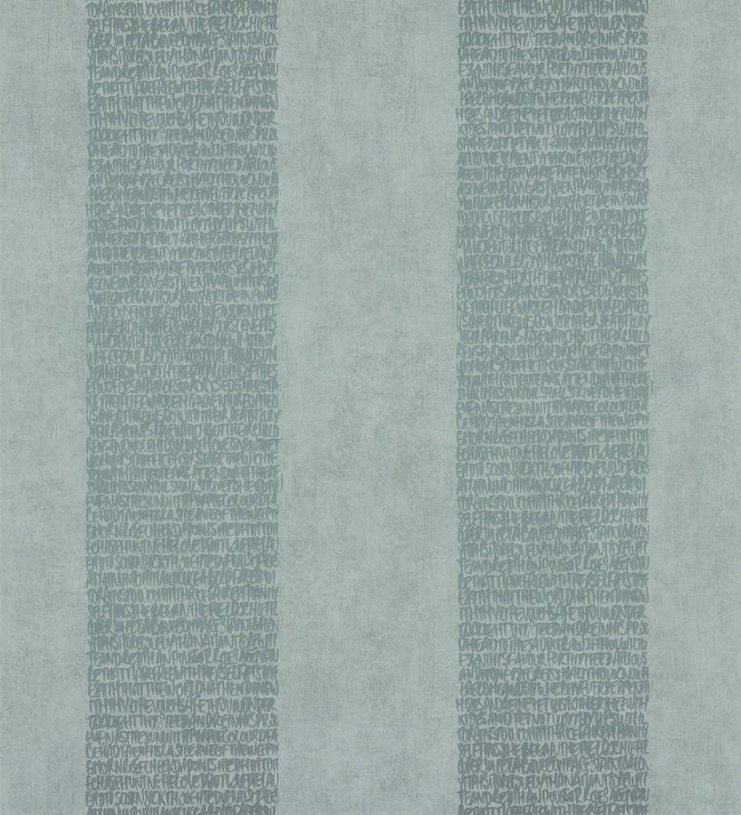 Papel pintado rayas de letras modernas gris metalizado y gris Raya Lucida 342488