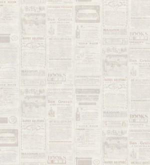 Papel pintado collage de anuncios de periódico beige oscuro Fiama 342496