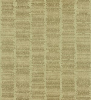 Papel pintado rayas simétricas de letras pequeñas fondo beige oscuro Trajan 342502