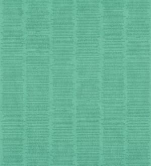 Papel pintado rayas simétricas de letras pequeñas verde azulado Trajan 342503