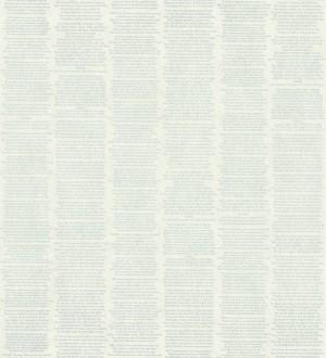 Papel pintado rayas simétricas de letras pequeñas fondo blanco roto Trajan 342504