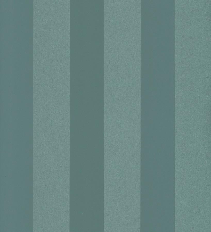 Papel pintado rayas modernas tonos celeste grisáceo y verde jade Raya Leila 342653
